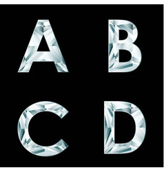 Diamond letters alphabet available in portfolio vector