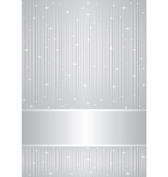 Silver background with sparkles vector