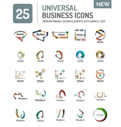 Collection of abstract company logo design vector image