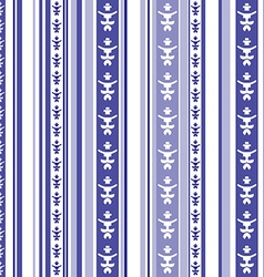 Seamless striped pattern with abstract motif in vector image