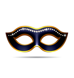 Black carnival mask vector