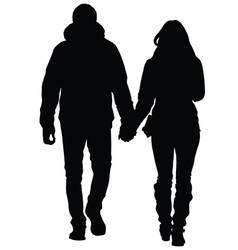 A young couple in love walking in the city vector image vector image