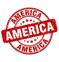 America red grunge round vintage rubber stamp vector