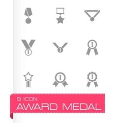 black award medal icon set vector image vector image