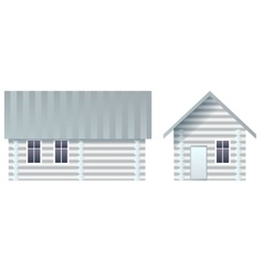 Blank house made of logs vector