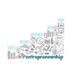 Business entrepreneurship strategy sketch concept vector