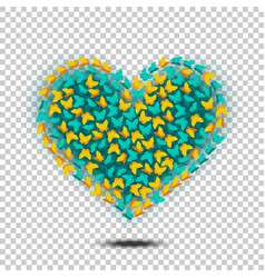 Butterflies heart isolated vector