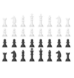 chess board and chessmen leisure concept knight vector image