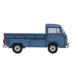 Classic small truck vector