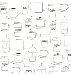 Coffee background silhouette vector