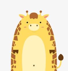 cute fat big giraffe vector image vector image
