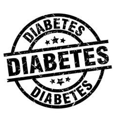 Diabetes round grunge black stamp vector