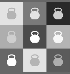 fitness dumbbell sign grayscale version vector image