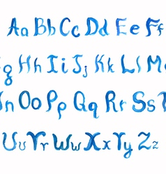 Frosty font vector