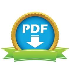 Gold pdf download logo vector