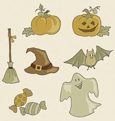 halloween monochrome vector image vector image