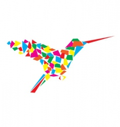 humming bird vector image vector image