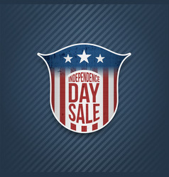 independence day sale sign on blue background vector image