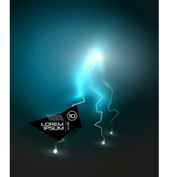 Lightning in the dark abstraction vector image