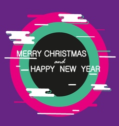 Merry christmas and happy new year abstract banner vector