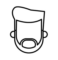 outlined bearded character man male vector image vector image