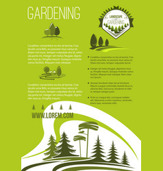 Poster of landscape or gardening company vector