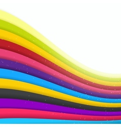 Rainbow Colored Stripes Shiny Background vector image
