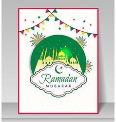 Ramadan kareem celebration with mosque vector