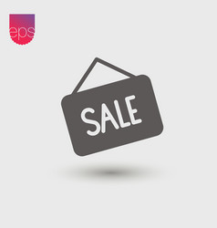 Sale simple icon emblem isolated on grey vector