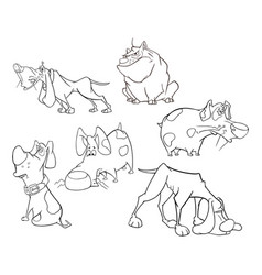 Set of cute dogs for you design cartoon character vector