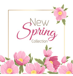 Spring sale card with sakura vector