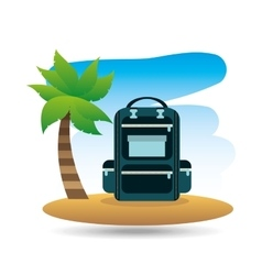 tropical vacation beach backpack vector image