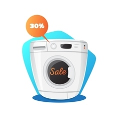 washing machine in cartoon vector image