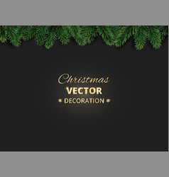 winter holiday background with christmas tree vector image