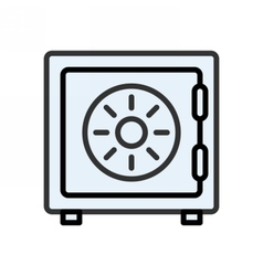 Safe outline icon vector image