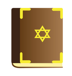 Isolated traditional torah vector