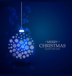 Beautiful blue background with christmas festival vector