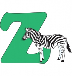 Z is for zebra vector