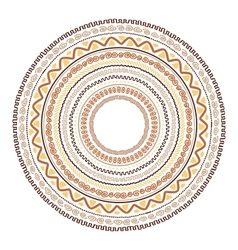 Round ornament design ethnic style vector