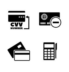 Credit card simple related icons vector
