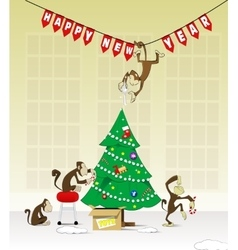 2016 year the monkey vector image vector image