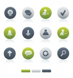 chat media icons vector image
