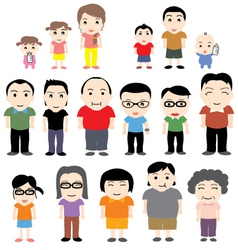 China family vector