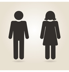 Icon gender differences vector