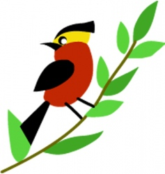 patterned bird vector image