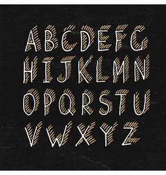 Alphabet on blackboard texture vector