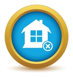 Remove house icon vector