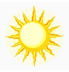 Sun symbol isolated on white vector