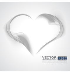 Abstract gray wavy background-heart from smoke vector