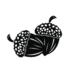 Acorn icon black vector